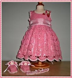 Baby's DressyDress - Strawberry and Cream Lace Ensemble